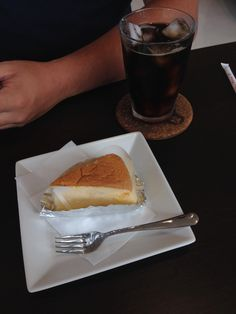 My friend ate cheese cake.