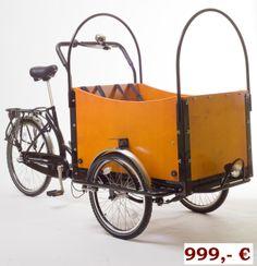Uncovered bike wagon