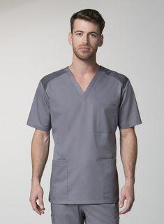62 Ideas Medical Scrubs Eon For 2019 Scrubs Uniform, Men In Uniform, Medical Uniforms, Medical Design, Uniform Design, Medical Scrubs, Scrub Tops, V Neck Tops, Custom Clothes