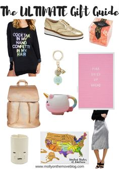 The Ultimate Gift Guide full of quirky and fun ideas for everyone!! Click the pin to check it out!