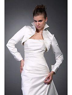 Long Sleeves Satin Bridal Jacket / Wedding Wrap – USD $ 19.20