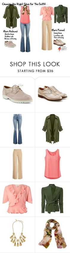 """""""choosing the right shoe for the outfit"""" by imogenl ❤ liked on Polyvore featuring Spring Step, Church's, Frame, Burberry, prAna, Miss Selfridge, 10 Crosby Derek Lam, Rachel Zoe and Bindya"""