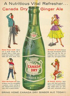 Vintage Canada Dry Ginger Ale Ad
