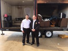 Kyle Edwards (l) and Brian Davison (r) after a side-by-side demo at NFPA's Missouri Fire Sprinkler Summit. Two years ago, the Columbia, MO Fire Dept. received a stipend from HFSC to help build this home fire sprinkler demo trailer. They've used it 8 times and have plans for many more demos.