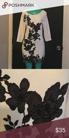 White House Black Market sweater dress OMG! The green girl does this dress no justice! It's fabulous! White House Black Market Dresses Mini