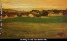 Meadow With Village In Background II by Egon Schiele. Painting analysis, large resolution images, user comments, slideshow and much more.