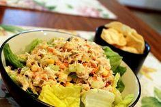 Sweet & Skinny Tuna Salad #recipe #lowcal #summer