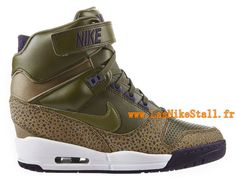 Officiel Nike Air Revolution Sky Hi GS Chaussures Nike Pas Cher Pour Femme Brun 633521-335