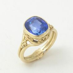 Caleb Meyer Studio Carousel Ring with Blue Sapphire;  Archive #3003