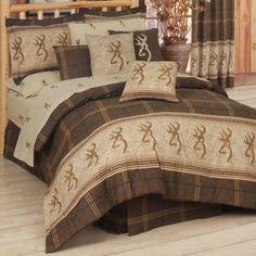 Browning Buckmark Comforter Set Size: Queen