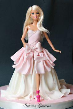 Barbie Cake - Cake by Vittoria Bolo Barbie, Barbie Cake, Barbie Party, Barbie Dress, Barbie Barbie, Barbie Birthday Cake, Birthday Cake Girls, Doll Cake Tutorial, Doll Cake Designs