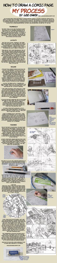 How to Draw Comics layout to finished pencils by ~leeoaks