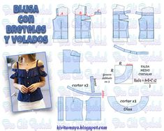 Amazing Sewing Patterns Clone Your Clothes Ideas. Enchanting Sewing Patterns Clone Your Clothes Ideas. T Shirt Sewing Pattern, Dress Sewing Patterns, Clothing Patterns, Fashion Sewing, Diy Fashion, Bodice Pattern, Sewing Blouses, Make Your Own Clothes, Kawaii Clothes