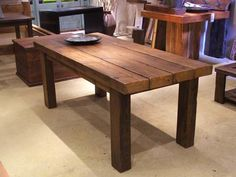 New house means new stuff! Love this reclaimed wood table...