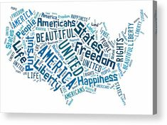 The United States Of America Map Acrylic Prints Art.