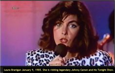 "Laura Branigan 1985, Johnny Carson ""Tonight Show""."