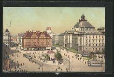 Karlsplatz / Stachus, postcard 1908