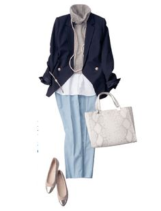 Now I am going shopping.for a sailboat Winter Fashion Outfits, Autumn Winter Fashion, Smart Outfit, Work Wardrobe, Office Fashion, Office Outfits, Work Casual, Japanese Fashion, My Style