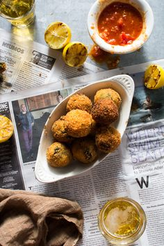 Flourishing Foodie: Broccoli Rabe Arancini with Marinara Sauce