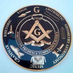 Freemasonry Antique Gold Heavy Alloy  Auto Tag Car Emblem Rear Medallion W pride