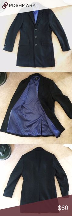 H&M Men's Wool Overcoat H&M Men's wool overcoat, length is above the knee, with extra buttons, slit in back (uncut), great condition H&M Jackets & Coats Pea Coats