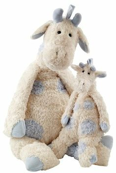 Jellycat Beginnings Blue Giraffe Medium