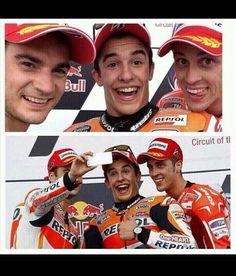 Podium selfie! ! Dani Pedrosa,  Marc Marquez and Andrea Dovizioso on the podium at Austin - 2/2 wins for Marquez do far this 2014 season