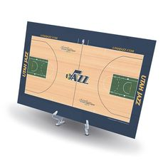 Utah Jazz Replica Basketball Court Display, Black