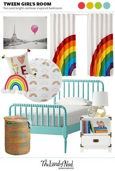 Tween Rainbow Bedroo