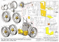 Two cyl marine engine=== Mechanical Engineering Design, Mechanical Art, Mechanical Design, Miniature Steam Engine, Metal Lathe Tools, Drawing Exercises, Workshop Organization, 3d Drawings, Aircraft Design