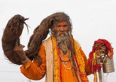 Naga Sadhu With Very Long Hair, Maha Kumbh Mela, Allahabad