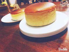 お店の様な仕上がりスフレチーズケーキの画像