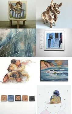 artists on the beach..  by Sonja Zeltner-Mueller on Etsy--Pinned with TreasuryPin.com