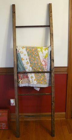 handmade ladder quilt rack