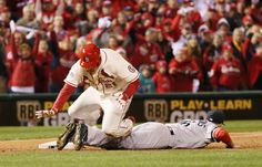 Obstruction call becomes talk of baseball world | St. Louis Cardinals' Allen Craig trips over Boston Red Sox third baseman Will Middlebrooks as he tries to score from third in the ninth inning during Game 3 of the World Series between the St. Louis Cardinals and the Boston Red Sox on Saturday, Oct. 26, 2013, at Busch Stadium in St. Louis. Craig was awarded home due to interference on the play.(AP Photo/St. Louis Post-Dispatch, Chris Lee)