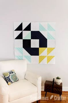 Beautiful modern quilt | Christina Lane