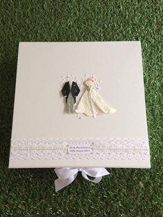 Personalised Wedding Keepsake Box/Wedding Gift Box With Lace&Pearl/Bride&Groom Wedding Keepsake Boxes, Wedding Gift Boxes, Wedding Keepsakes, Wedding Gifts, Handmade Wedding, Personalized Wedding, Organza Ribbon, Bride Groom, Weddings