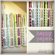 Diy Straw Holder Use A Cute Gift Bag As A Container Colorful