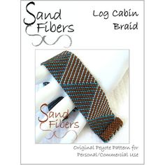Peyote Pattern  Log Cabin Braid Cuff / Bracelet  A par SandFibers