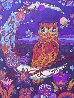 Owls Creative Haven, Dover Publishing Prismacolor Markers, gel pens Colored by Jan Gel Pen Art, Marker Art, Gel Pens, Owl Coloring Pages, Coloring Books, Whimsical Owl, Envelope Art, Coloring Tutorial, Colouring Techniques