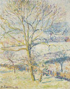 Camille Pissarro (1831-1903) Le Grand Noyer, Gelee Blanche Eragny 1892 (41 by 33 cm)