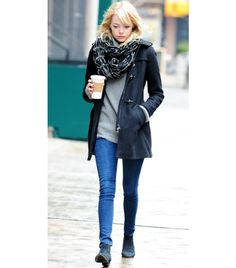 """""""Skinny Jeans and Ankle Boots: Fun Styles to Try Now"""" on www.whowhatwear.com shows how to get Emma Stone's look with the Sam Edelman Petty Suede Booties."""