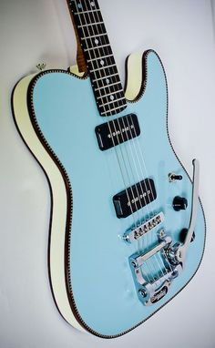 Electric Guitar Electric Guitars With Floyd Rose Electric Guitars With Largenecks Guitare Fender Stratocaster, Telecaster Guitar, Fender Guitars, Bass Guitars, Guitar Shop, Music Guitar, Cool Guitar, Playing Guitar, Blue Guitar