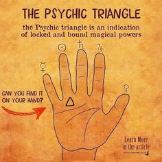 Can You Find It, Magical Power, Palmistry, Triangle, Signs, Learning, Witch, Instagram, Celtic