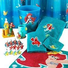 Merveilleux 21pc Disney Little Mermaid Shower Curtain Bath Accessory Set Hooks Towels  Rug Bathroom Sets Little Mermaid Bathroom Decor