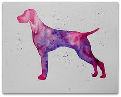 Vibrant #Vizsla by dleair on Etsy $15