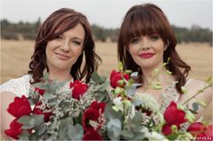 Red, Navy, White Wedding. Red Colour palette, Modern Wedding, Ombre Wedding Dress, Red Tulip Bouquet www.lunafay.co.za
