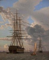 The Russian Ship of the Line Azov and a Frigate at Anchor in the Roads of Elsinore, 1828 Fine Art Print Large Living Room Rugs, Living Room Mirrors, Simple Living Room, Living Room Sets, Living Room Chairs, Small Living, Modern Living, Wall Mirrors, Small Apartment Living