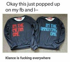 klance is everywhere, matching sweaters