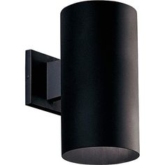 "View the Progress Lighting P5641-31/30K Black LED Cylinder Outdoor Wall Sconce - Down Light - 12"" x 6"" at Build.com. Led Outdoor Wall Lights, Outdoor Wall Lantern, Outdoor Wall Sconce, Outdoor Walls, Outdoor Lighting, Barn Lighting, Exterior Lighting, Lighting Ideas, Stairway Lighting"